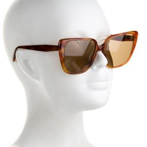 CELINE Brown square sunglasses.